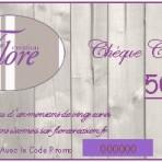 Chèque cadeaux de 50 €
