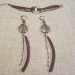 Boucles et bracelet violet